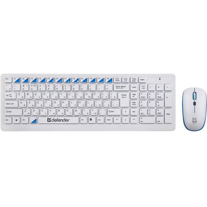 Defender Skyline 895 Nano, White клавиатура и мышь