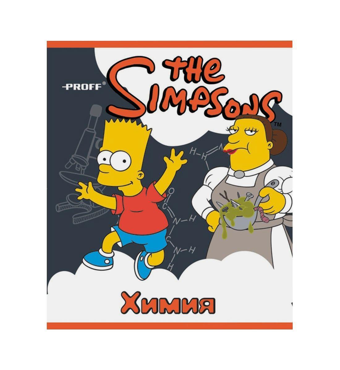 Тетрадь Proff The Simpsons The SimpsonsSI14-CEBS48SI14-CEBS48Разметка: В клетку. Формат: А5. Обложка: Картон, . Пол: Унисекс. Возраст: Средние классы.Крепление: Скрепки.