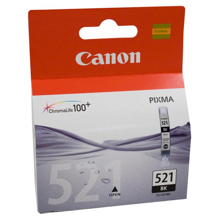 Canon CLI-521BK, Black картридж для струйных МФУ/принтеров2933B004Картридж с цветными чернилами Canon CLI-521 для струйных принтеров и МФУ Canon.