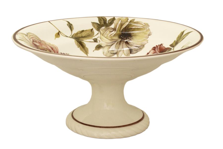 Фруктовница на ножке LCS Сады Флоренции, диаметр 30 смLCS1308PA-BO-ALВаза на ножке LCS Сады Флоренции, выполненная из высококачественнойглазурованной керамики, предназначена для красивой сервировки фруктов.Изящныйдизайн и красочность оформления придутся по вкусу и ценителям классики, и тем,кто предпочитает утонченность и изысканность.Фруктовница LCS Сады Флоренции украсит сервировку вашего стола иподчеркнет прекрасный вкус хозяина, а также станет отличным подарком.