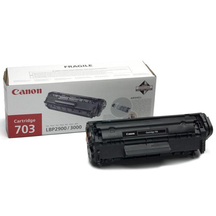 Canon 703 картридж-тонер для лазерных принтеров7616A005Canon 703 - это оригинальный картридж от Canon «Всё в одном» (тонер, чистящий блок и др. элементы).