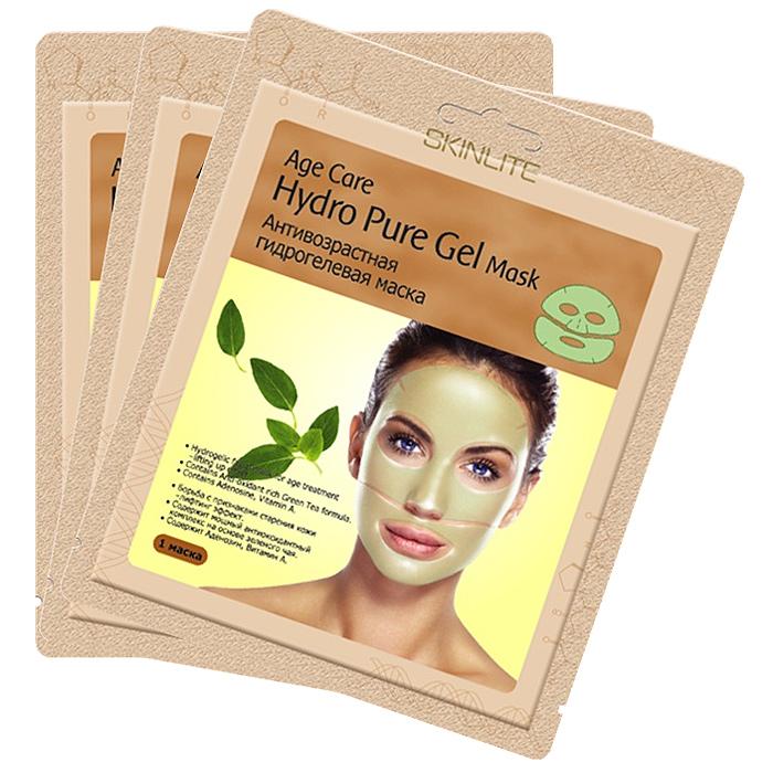 Skinlite Набор гидрогелевых масок для лица Age Care, антивозрастных, 3 штSL-252Анитивозрастная гидрогелевая маска Age Care: Борьба с признаками старения кожи – лифтинг эффект.Содержит мощный антиоксидантный комплекс на основе зеленого чая. Содержит Аденозин, Витамин А.Уникальная основа из тончайшего гидрогеля позволяет маске абсолютно плотно прилегать к коже лица и, благодаря этому, достигается максимальный эффект проникновения активных ингредиентов в клетки кожи. Входящие в состав маски Аденозин, экстракт зеленого чая, витамин А и другие натуральные компоненты оказывают глубоко увлажняющее, восстанавливающее воздействие и эффективно борются с признаками старения кожи. Во время процедуры Вы заметите, что вместе с поглощением кожей активных ингредиентов, маска становится тоньше.Результат: После применения маски кожа выглядит значительно моложе: поверхностные и глубокие морщины разглаживаются, повышается упругость и эластичность кожи. Способ применения:1. Тщательно вымойте и высушите лицо. 2. Откройте упаковку и достаньте маску. Удалите пластиковую пленку с обеих сторон.3. Положите верхнюю и нижнюю части на лицо. Разгладьте маску на коже, чтобы не осталось пузырей. 4. Оставьте маску на 20-30 минут и затем аккуратно снимите ее, потянув за края. Нежно вмассируйте остатки маски в кожу лица.Используйте маску первые 2 недели 1 раз в 2 дня, далее 2 раза в неделю.Товар сертифицирован.