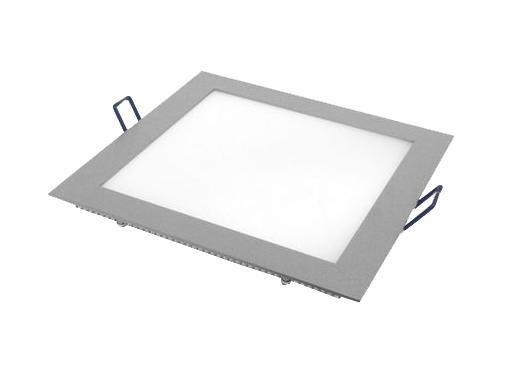 Встраиваемый светильник ESTARES светодиодный тонкий квадрат 10W 2800K 700lm теплый белый 200*200mm - цвет серый встраиваемый светильник maysun th 100 5w silver теплый белый