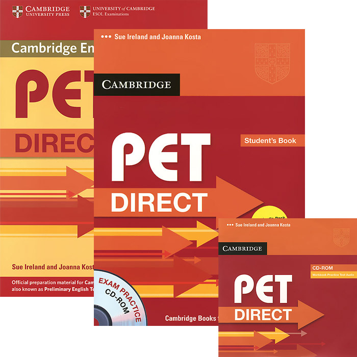 PET Direct: Student's Pack (комплект из 2 книг + CD-ROM) cambridge grammar for pet book with answers 2 cd