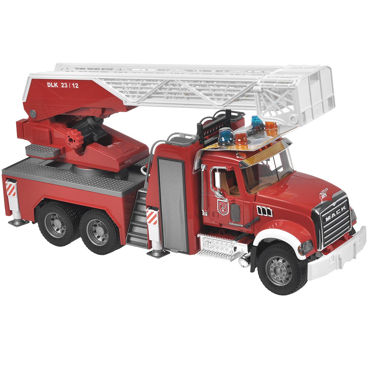 Bruder Пожарная машина Mack модуль со световыми и звуковыми эффектами bruder 02 801