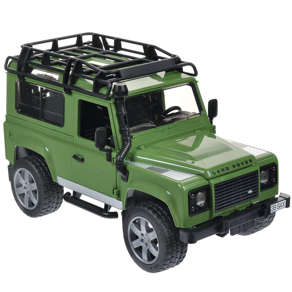 Bruder Внедорожник Land Rover Defender цвет зеленый bruder внедорожник land rover defender