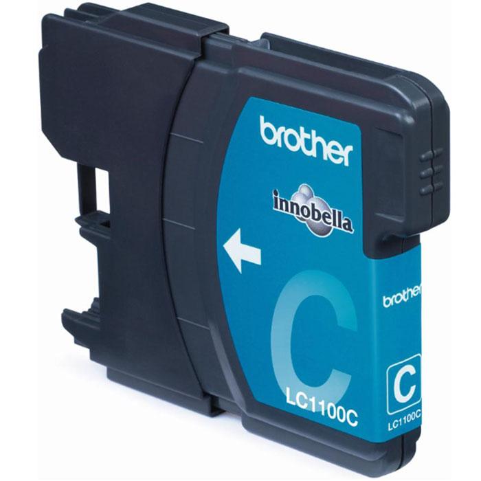 Brother LC1100C, Cyan струйный картридж для DCP-385C/MFC-990CW/DCP-6690CWLC1100CКартридж с чернилами Brother LC1100 для струйных МФУ Brother.