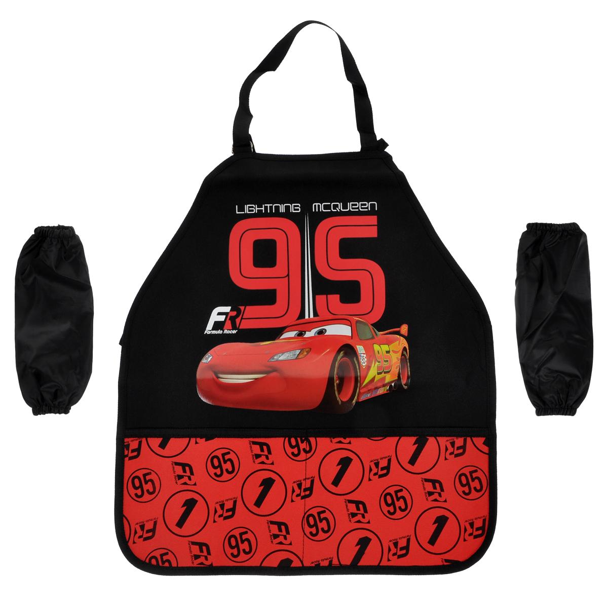"""Фартук для детского творчества """"Cars"""", цвет: красный, черный, Kinderline International Ltd."""