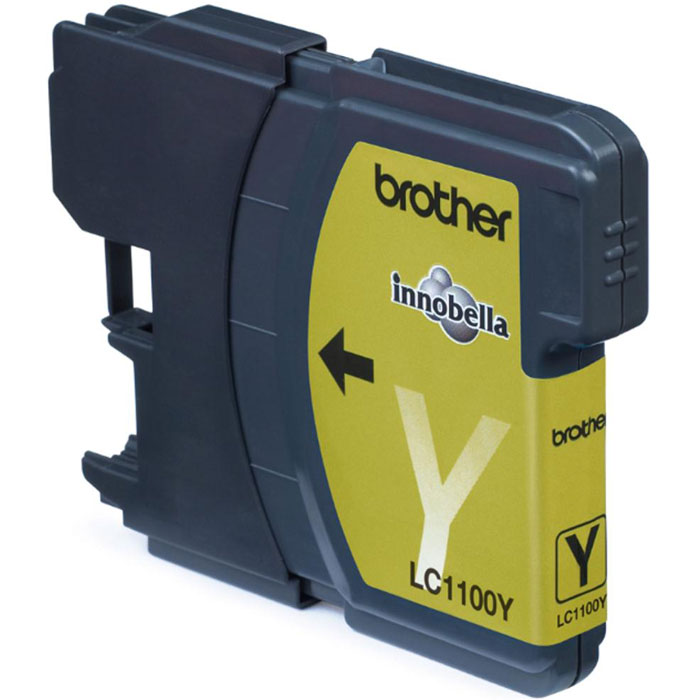 Brother LC1100Y, Yellow струйный картридж для DCP-385C/MFC-990CW/DCP-6690CW brother tn130y yellow