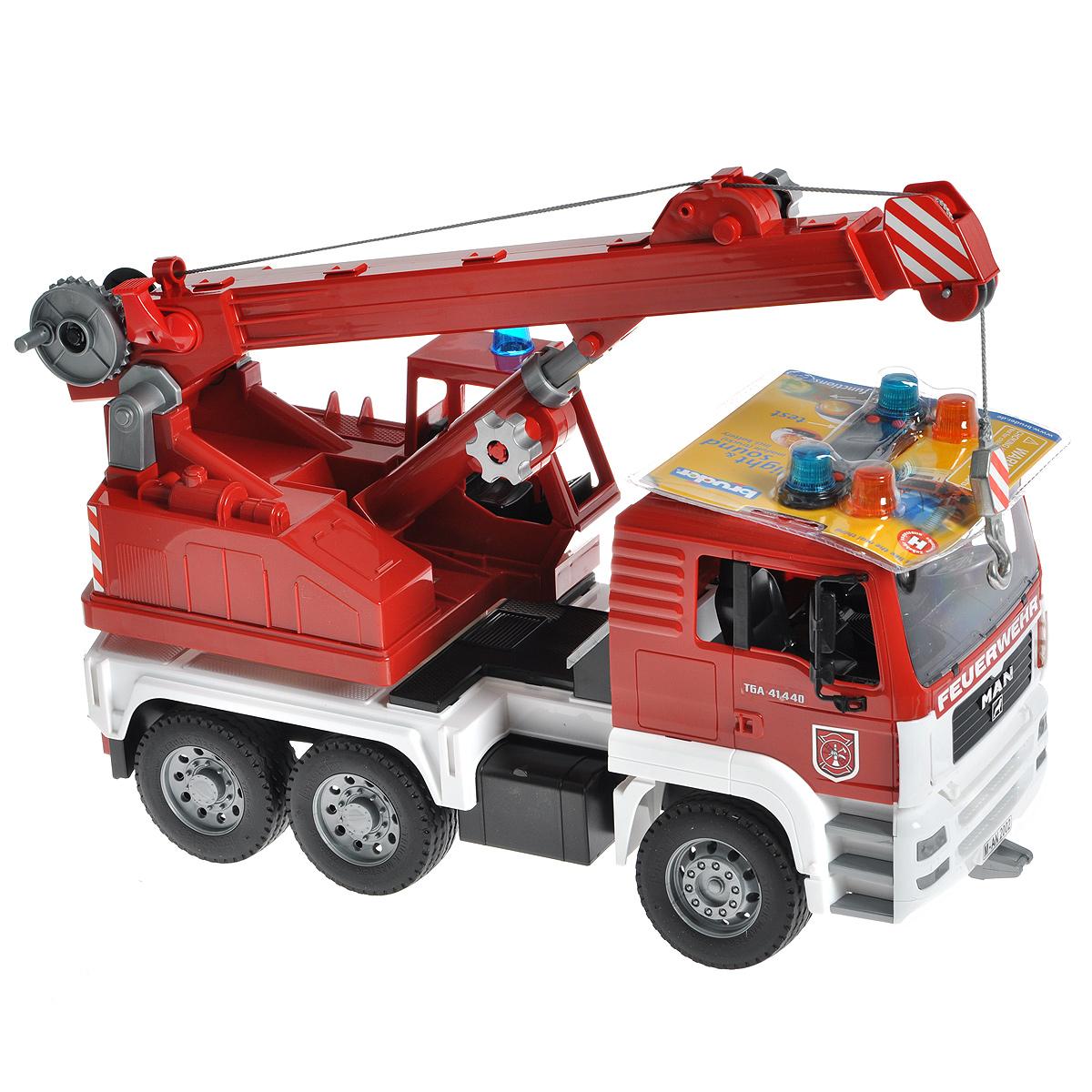Bruder Пожарный автокран MAN bruder пожарная машина mack