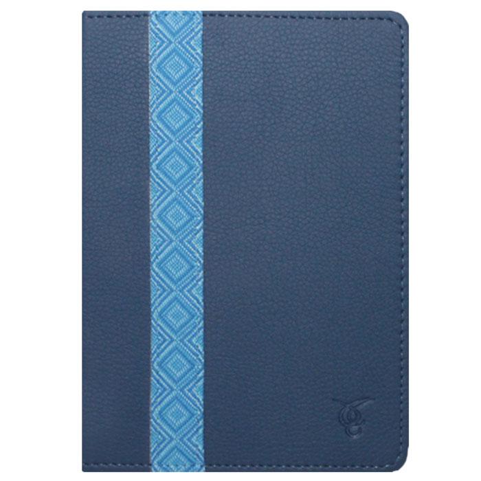 Vivacase Romb кожаный чехол-обложка для PocketBook 640/626/614/624/623, Blue (VPB-P6R02-blue) чехол goodegg lira для pocketbook 614 624 626 640 коричневый