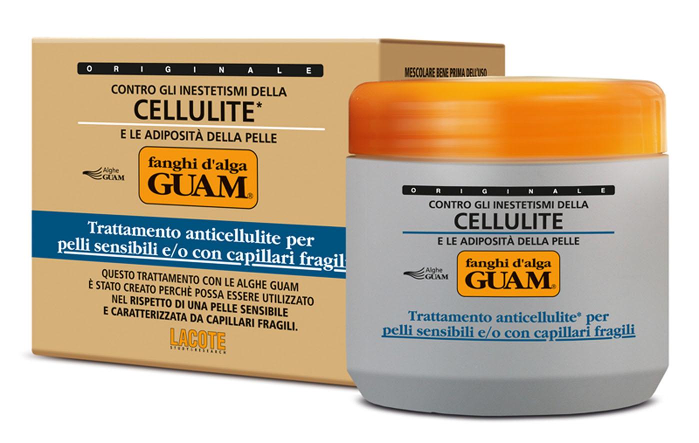 Guam Маска антицеллюлитная Fanchi Dalga для тела, для чувствительной кожи с хрупкими капиллярами, 500 мл1025Содержит инновационный липолитический комплекс Glicoxantine двойного действия: уменьшает локальные жировые отложения и устраняет целлюлит. Благодаря активным компонентам обладает антиоксидантным действием, усиливает микроциркуляцию, способствует выводу межклеточной жидкости, подтягивает и выравнивает кожный рельеф. Укрепляет сосуды и обеспечивает длительное увлажнение кожи. Идеальное средство для чувствительной кожи при проблемах с сосудами на ногах.Товар сертифицирован.