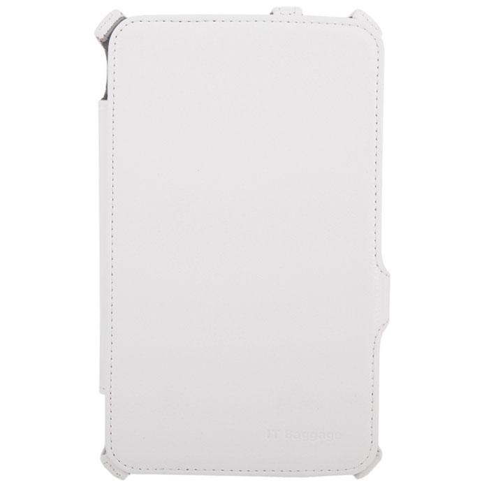 IT Baggage чехол-мультистенд для Samsung Galaxy Tab 3 7.0, WhiteITSSGT7305-0IT Baggage для Samsung Galaxy Tab 3 7.0 - чехол-мультистенд, который сохранит ваш планшет от царапин, пыли и грязи. Основа чехла имеет специальную рамку, надежно удерживающую планшет внутри. Крышка его выполнена из бархатистого материала, который обеспечивает деликатную защиту дисплея. Имеется возможность использования в виде настольной подставки.