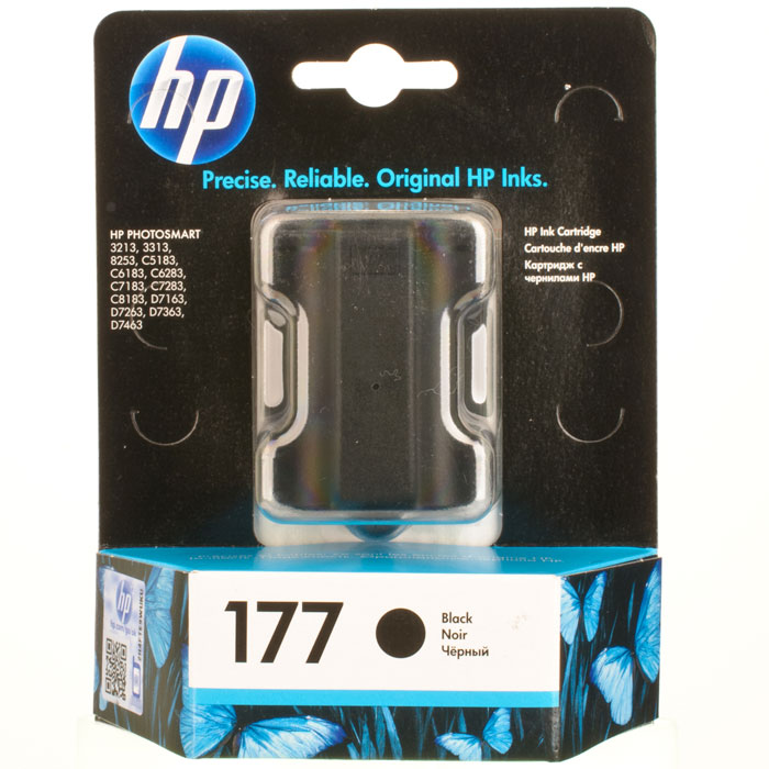 HP C8721HE (177), Black струйный картридж usb flash drive 16gb silicon power j30 usb 3 0 blue sp016gbuf3j30v1u
