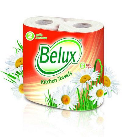 Полотенца кухонные бумажные Belux, двухслойные, цвет: белый, 2 рулона36294Кухонные бумажные полотенца Belux прекрасно подойдут для использования на кухне. В комплекте - 2 рулона двухслойных полотенец с тиснением. Особенности полотенец:- не оставляют разводов на гладких и стеклянных поверхностях, - идеально впитывают влагу, - отлично впитывают жир, - подходят для ухода за домашними животными, бытовой техникой, автомобилем. Полотенца мягкие, но в тоже время прочные, с отрывом по линии перфорации.