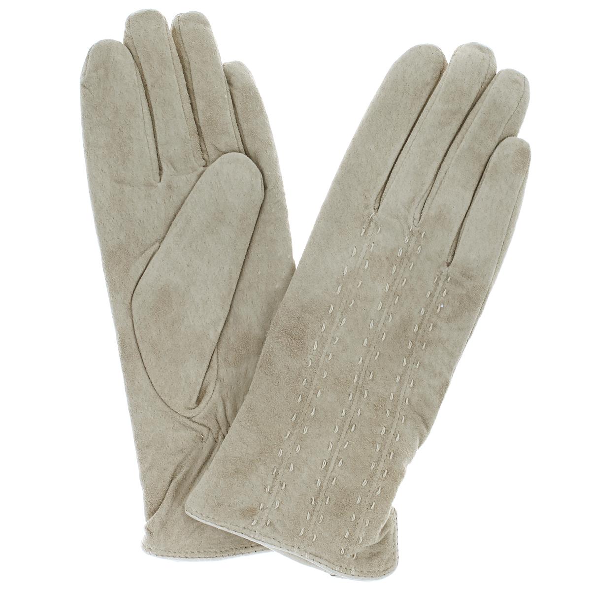 Перчатки женские Dali Exclusive, цвет: слоновая кость. SP11_VASSA/BEIGE. Размер 6,5SP11_VASSA/BEIGEСтильные перчатки Dali Exclusive с подкладкой из шерсти выполнены из мягкой и приятной на ощупь натуральной замши.Лицевая сторона оформлена декоративными стежками. Такие перчатки подчеркнут ваш стиль и неповторимость и придадут всему образу нотки женственности и элегантности.