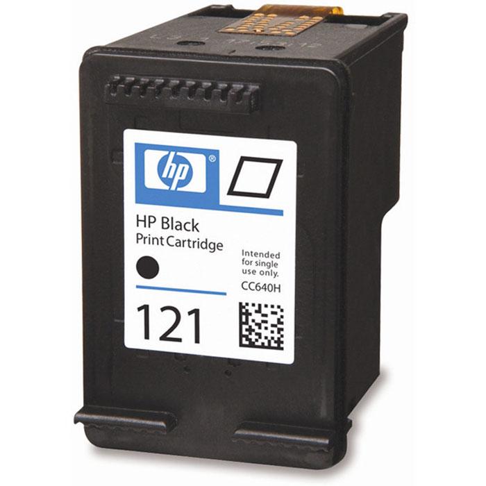 HP CC640HE (121), Black струйный картриджCC640HEЧерные картриджи HP 121 печатают документы и изображения лазерного качества, которые противостоят выцветанию. Лёгок в установке и использовании.