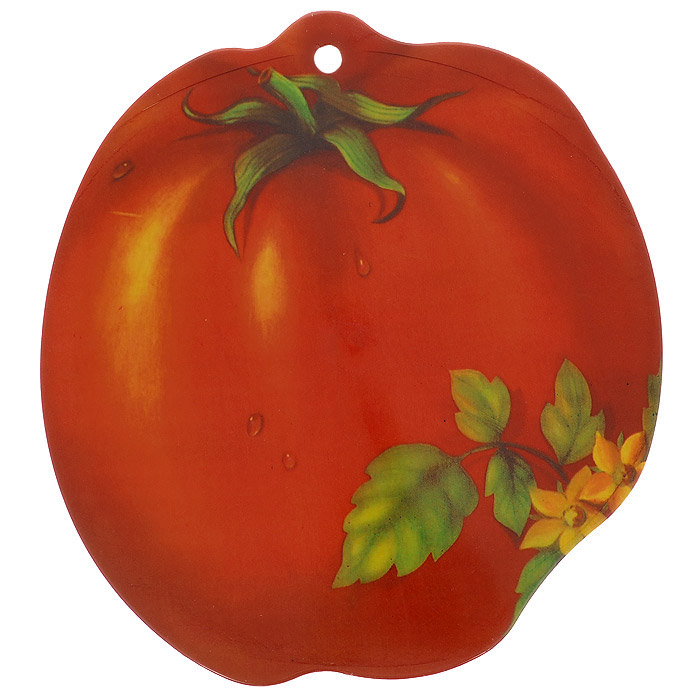 Доска разделочная Помидор, цвет: красный, 23,5 х 22 см813-055Разделочная доска Помидор, выполненная из крепкого пластика, станет незаменимым атрибутом приготовления пищи. Доска устойчива к повреждениям и не впитывает запахи, идеально подходит для разделки мяса, рыбы, приготовления теста и для нарезки любых продуктов.
