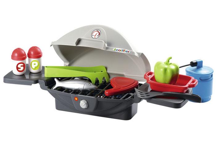 Ecoiffier Игровой набор Настольный барбекю, 10 предметов игрушки ecoiffier