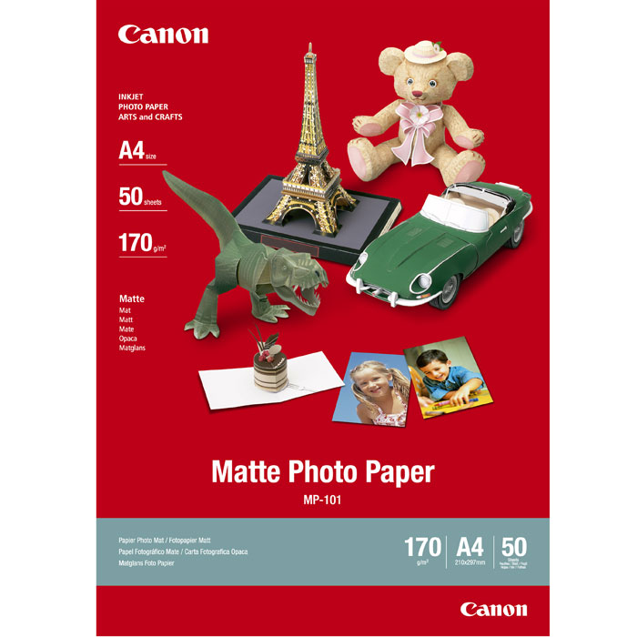 Canon MP-101 170/A4/50л Matte Photo Paper (7981A005) flying golden silver star photo background 5 7ft vinyl fabric cloth цифровая печать photo studio backdrop s 3144