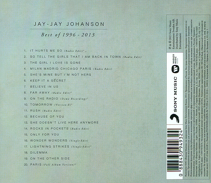 Jay-Jay Johanson.  Best Of 1996 - 2013
