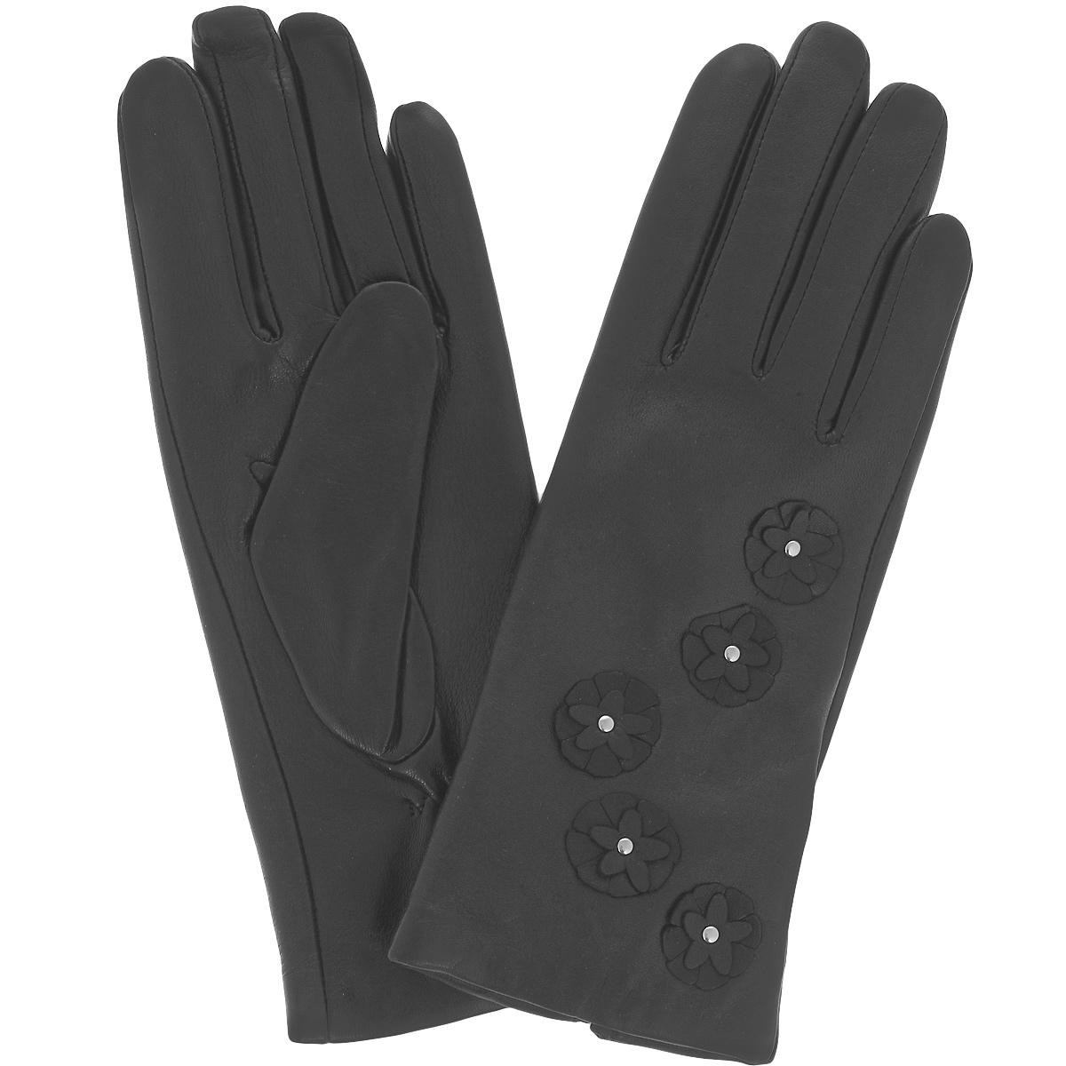 Перчатки женские Dali Exclusive, цвет: черный. 11_CAMPA/BL. Размер 6,5