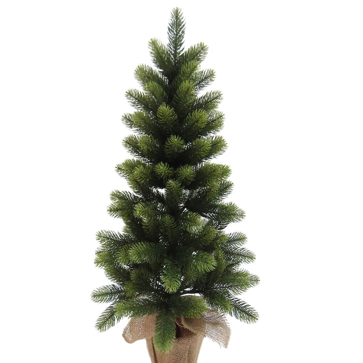 Ель искусственная Елизавета, напольная, высота 90 смHJT09-90 PVC+PEИскусственная ель Елизавета - прекрасный вариант для оформления вашего интерьера к Новому году. Такие деревья абсолютно безопасны, удобны в сборке и не занимают много места при хранении. Ель имеет подставку, выполненную в виде мешочка. Изделие быстро и легко устанавливается и имеет естественный и абсолютно натуральный вид, отличающийся от своих прототипов разве что совершенством форм и мягкостью иголок. Еловые иголочки не осыпаются, не мнутся и не выцветают со временем. Полимерные материалы, из которых они изготовлены, нетоксичны и не поддаются горению. Ель Елизавета обязательно создаст настроение волшебства и уюта, а также станет прекрасным украшением дома на период новогодних праздников.