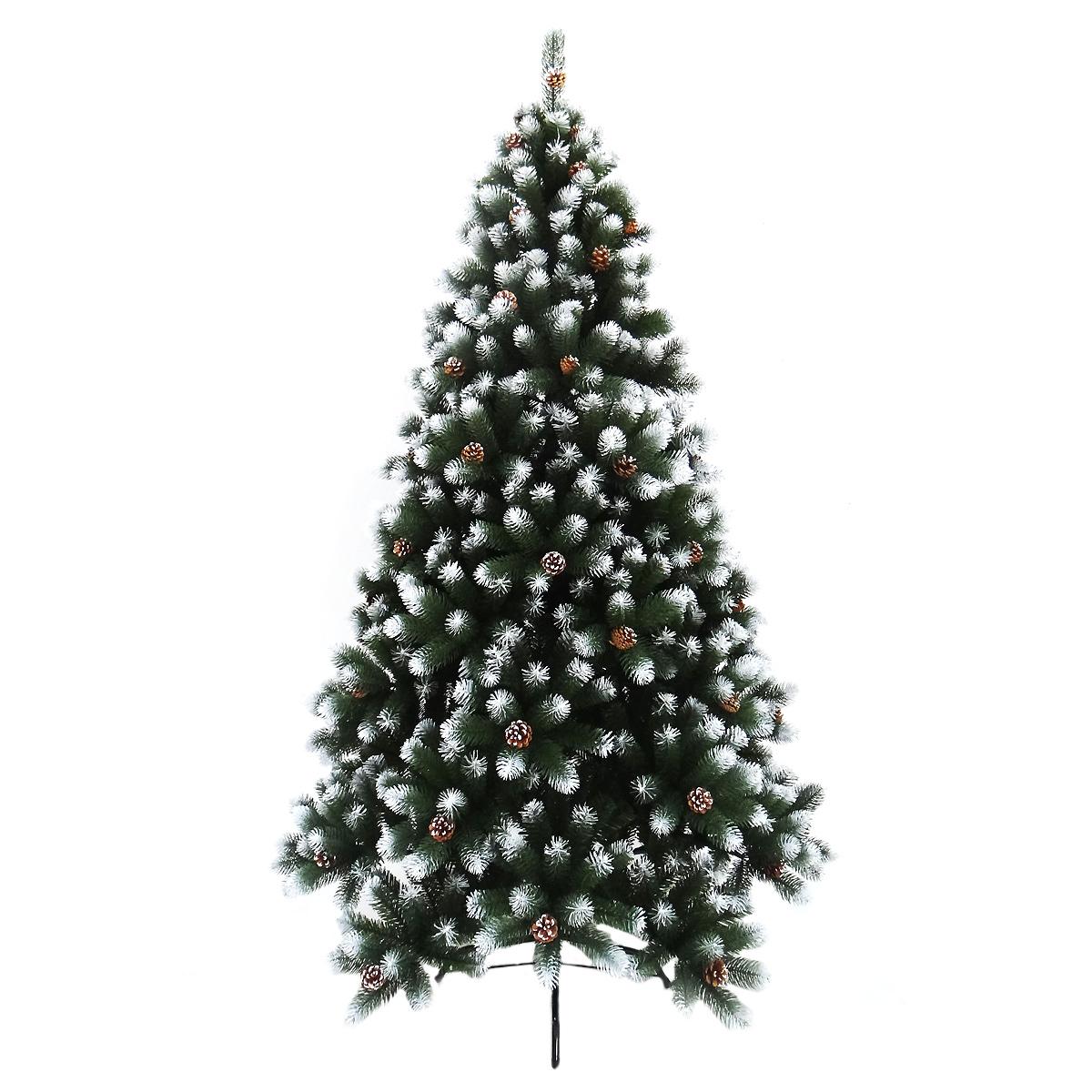 Ель искусственная, заснеженная, с шишками, высота 180 смHJT08S-180Искусственная елка, выполненная из ПВХ - прекрасный вариант для оформления интерьера к Новому году. Елка украшена шишками, ветки частично заснежены, некоторые выполнены из двухцветного (зеленого и белого) материала. Основные ветки плотно прикреплены к основанию. Ветки елки достаточно крепкие, что позволяет им не гнуться и не прогибаться под тяжестью игрушек, легко и быстро распушаются. Иголки не осыпаются, не мнутся, со временем не выцветают. Сказочно красивая новогодняя елка украсит интерьер вашего дома и создаст теплую и уютную атмосферу праздника. Откройте для себя удивительный мир сказок и грез. Почувствуйте волшебные минуты ожидания праздника, создайте новогоднее настроение вашим дорогим и близким. В комплекте: металлическая подставка, болты, ствол, верхушка, инструкция. Для сборки нужно соединить части и распушить веточки.