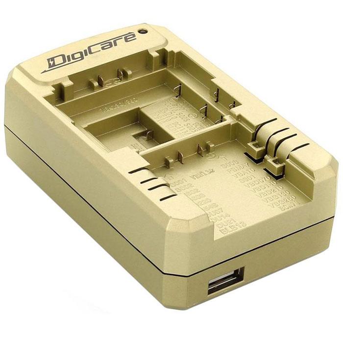DigiCare PCH-U8103 универсальное зарядное устройство для Panasonic + USBPCH-U8103Универсальное зарядное устройство Digicare PCH-U8103 применяется для восстановления заряда аккумуляторов фотоаппаратов и видеокамер Panasonic. Оно может подключаться как к сети переменного тока, так и к гнезду прикуривателя автомобиля. А благодаря наличию USB-порта универсальное зарядное устройство Digicare PCH-U8103 может быть использовано для смартфонов, планшетов и других мобильных устройств с функцией USB-зарядки.