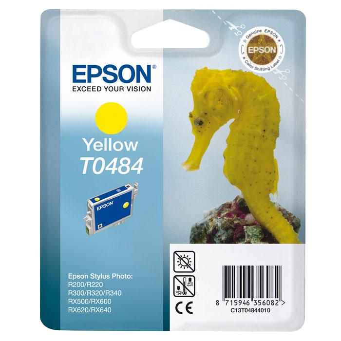 Epson T0484 (C13T04844010), Yellow картридж для R200/R300/RX500/RX600C13T04844010Картридж Epson T048 с цветными чернилами для струйной печати.