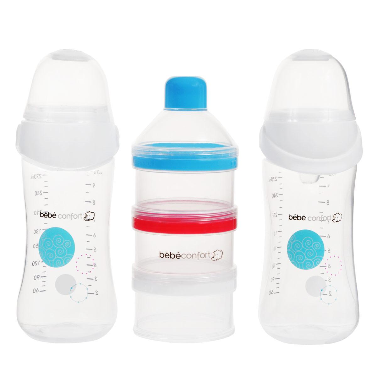 Набор бутылочек для кормления Bebe Confort Maternity. Easy Clip + дозатор смесей, от 0 до 12 месяцев, 270 мл, 2 шт дозатор для сухих смесей zoli