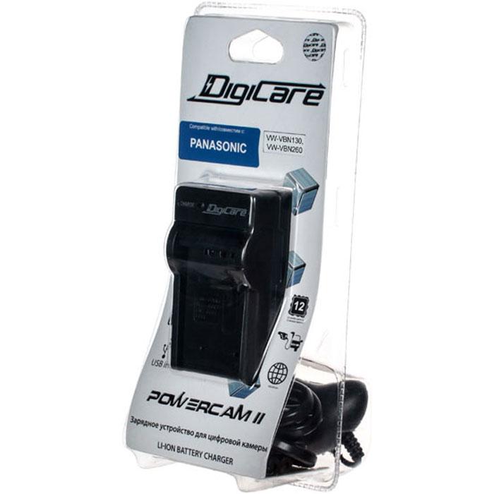 DigiCare Powercam II зарядное устройство для Panasonic VW-VBN130, VW-VBN260 зарядное устройство digicare powercam ii pch pc cnb10