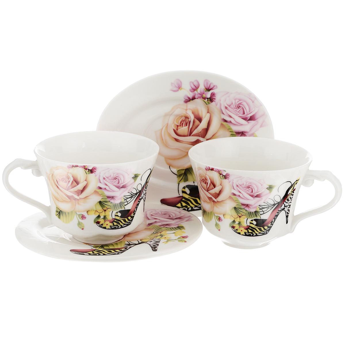 Набор чайный Briswild Фешн, 4 предмета набор чайный briswild цветы мака 6 предметов