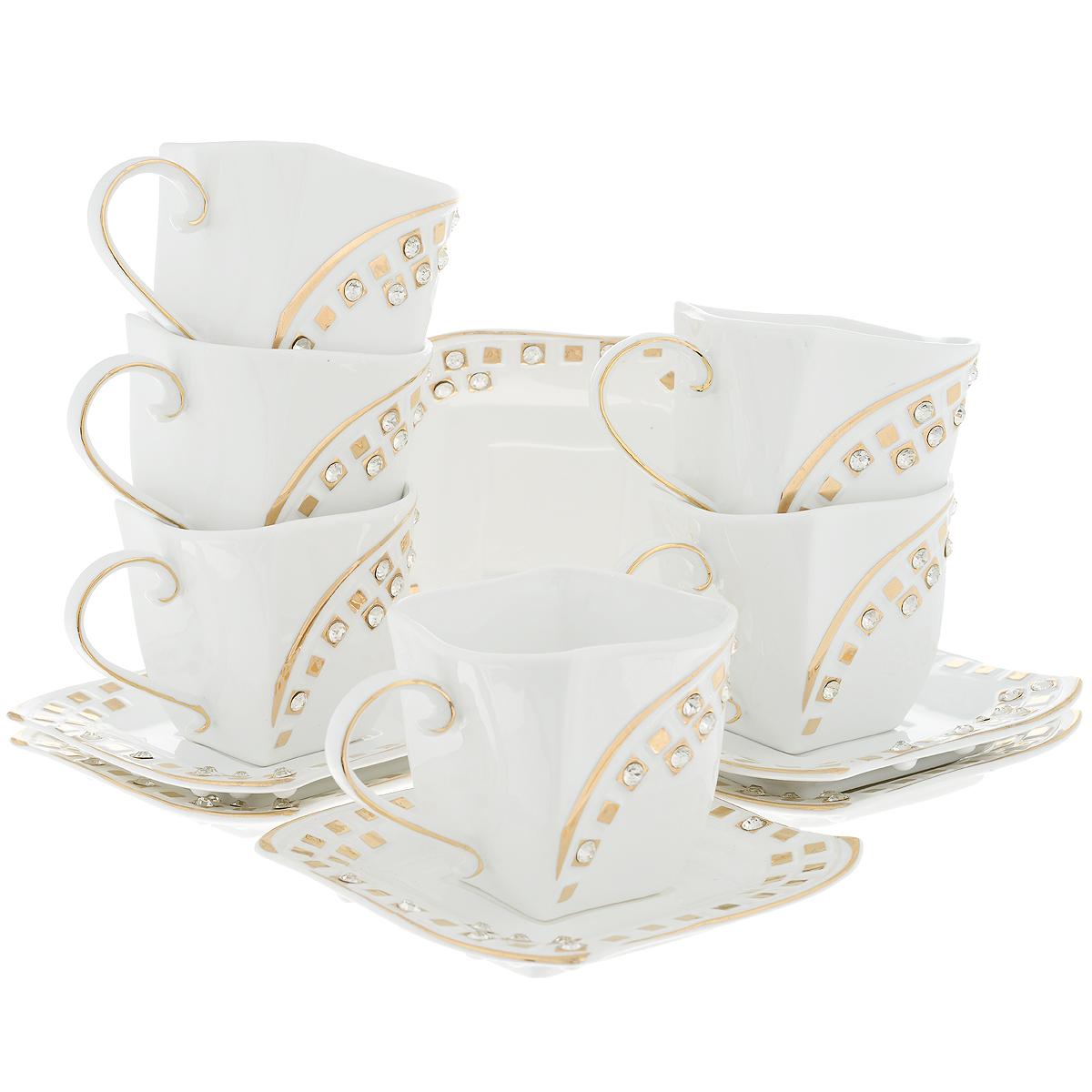 Набор чайный Briswild Золотое созвездие, 12 предметов