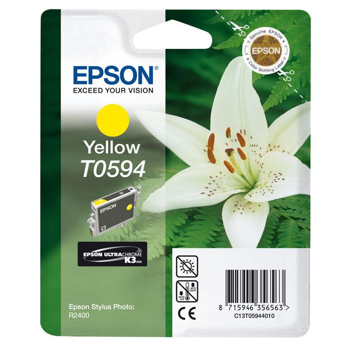 Epson T0594 (C13T05944010), Yellow картридж для R2400C13T05944010Картридж Epson T059 с цветными чернилами для струйной печати.