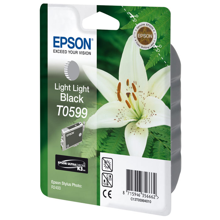 Epson T0599 (C13T05994010), Light Light Black картридж для R2400