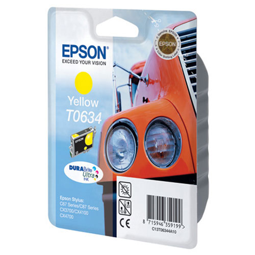 Epson T0634 (C13T06344A10), Yellow картридж для C67/C87/CX3700/CX4100/CX4700 картридж epson t009402 для epson st photo 900 1270 1290 color 2 pack