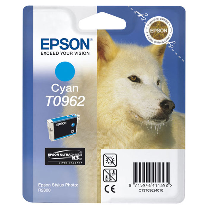 Epson T0962 (C13T09624010), Cyan картридж для R2880 картридж epson t3249 c13t32494010 orange для sc p400