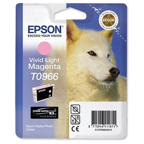 Epson T0966 (C13T09664010), Vivid Light Magenta картридж для R2880 картридж epson t009402 для epson st photo 900 1270 1290 color 2 pack