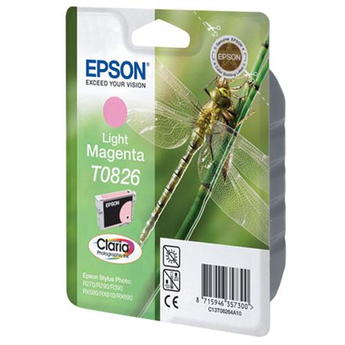 Epson T0826 (C13T11264A10), Light Magenta картридж для R270/R290/RX590/T50/TX650