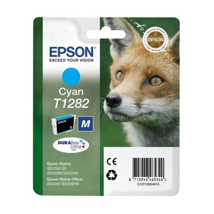 Epson T1282 (C13T12824012), Cyan картридж для S22/SX125/SX425/BX305 картридж epson t3249 c13t32494010 orange для sc p400