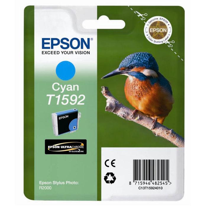 Epson T1592 (C13T15924010), Cyan картридж для Stylus Photo R2000C13T15924010