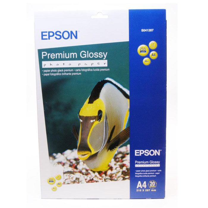 Epson Premium Glossy Photo 255/A4/20л, глянцевая C13S041287C13S041287Высококачественный материал Epson Premium Glossy Photo на бумажной основе с глянцевым полимерным покрытием. Предназначен для печати изображений профессионального качества - фотографий, интерьерной графики.Яркость: 97% Прозрачность: 96% Размеры: 210 х 297 мм