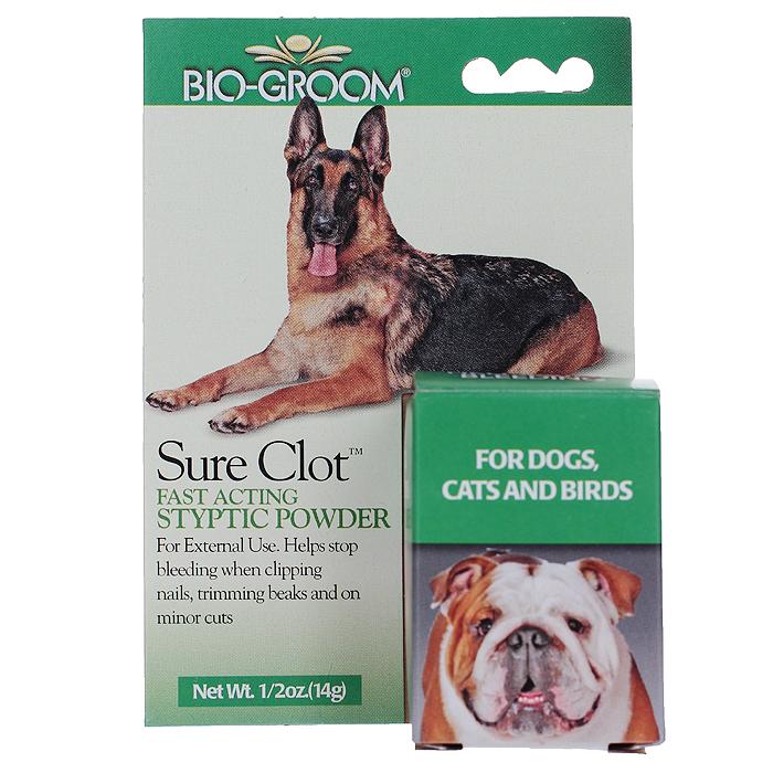 "Пудра для кошек, собак и птиц Bio-Groom ""Sure Clot"", кровоостанавливающая, 14,8 мл"