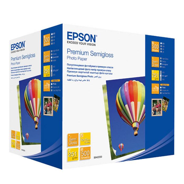 Epson Premium Semiglossy Photo 251/10x15/500л, полуглянцевая C13S042200C13S042200Яркость: 92%Прозрачность: 96%