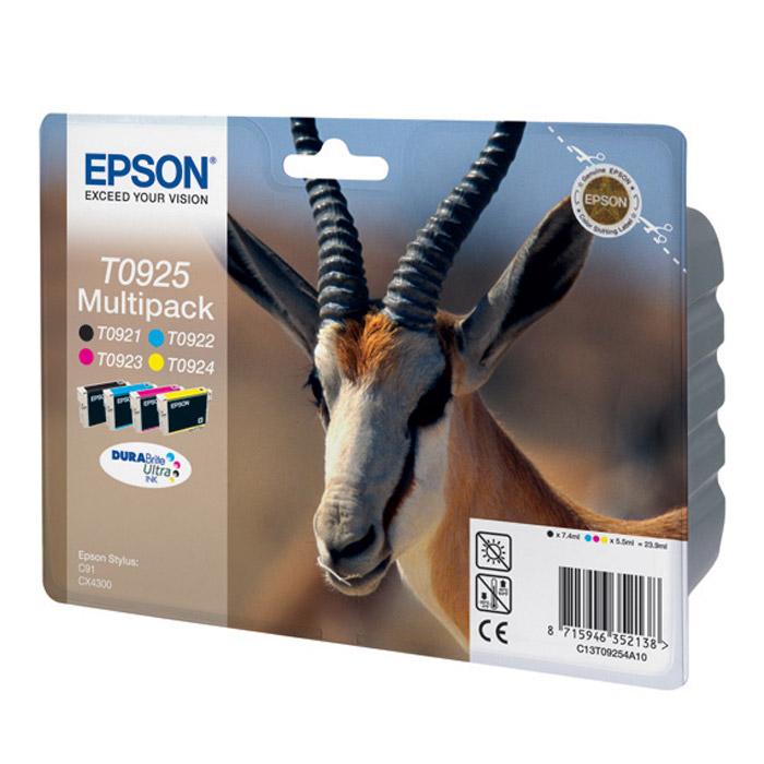 Epson T0925 Multipack (C13T10854A10) набор картриджей для Stylus C91, CX4300 комплектующие для принтеров epson me1100 t1100
