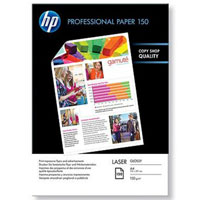 HP 150/A4/150л глянцевая двухсторонняя фотобумага для лазерной печати (CG965A)CG965AГлянцевая профессиональная бумага HP для лазерной печати.Глянцевая профессиональная бумага HP для лазерной печати позволяет создавать высококачественные брошюры, листовки и рекламные материалы. Эта бумага идеально подходит для создания великолепных глянцевых отпечатков прямо в офисе. Неизменно высокое качество и производительность продукции HPЭта прочная ярко-белая бумага плотностью 150 г/м2 обеспечивает профессиональный внешний вид готовых отпечатков. Сверхгладкая поверхность и яркие, насыщенные цвета позволят вам произвести неизгладимое впечатление на ваших клиентовГлянцевая профессиональная бумага HP для лазерной печати имеет мягкую глянцевую поверхность, которая обеспечивает насыщенные цвета и высокое качество изображений. Оптимальная работа принтеров HP Color LaserJet. Совместимость с большинством других лазерных принтеров и копировПечатайте профессиональные деловые документы, включая брошюры, листовки и рекламные материалы, не покидая офиса. Эта плотная бумага обеспечивает четкий текст и насыщенные цветные изображенияХарактеристики: Тип: Глянцевая бумага для лазерной печатиФормат: A4Плотность: 150 г/м2Яркость печатного материала: 97Количество листов в упаковке: 150Цвет: БелыйРазмеры: 210 х 297 мм