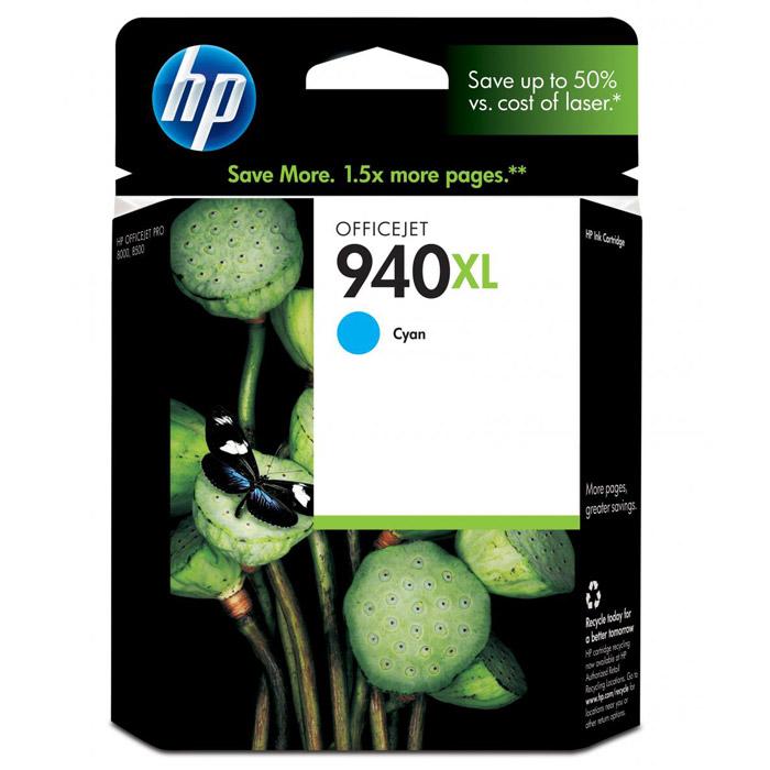 HP C4907AE (940XL), cyan чернильный картридж hp c9398a cyan
