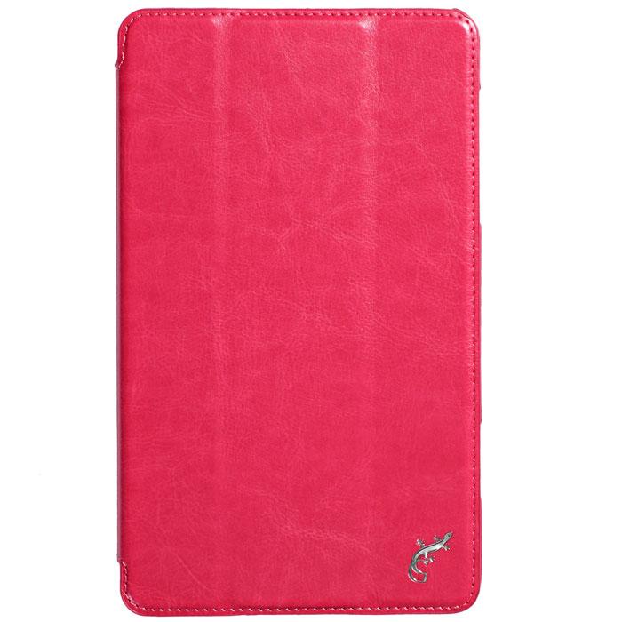 G-case Slim Premium чехол для Samsung Galaxy Tab S 8.4, PinkGG-436Чехол G-case Slim Premium для Samsung Galaxy Tab S 8.4 - это стильный и лаконичный аксессуар, позволяющий сохранить устройство в идеальном состоянии. Надежно удерживая технику, обложка защищает корпус и дисплей от появления царапин, налипания пыли и других механических повреждений. Также чехол можно использовать для просмотра видео или чтения книг. Имеет свободный доступ ко всем разъемам устройства.