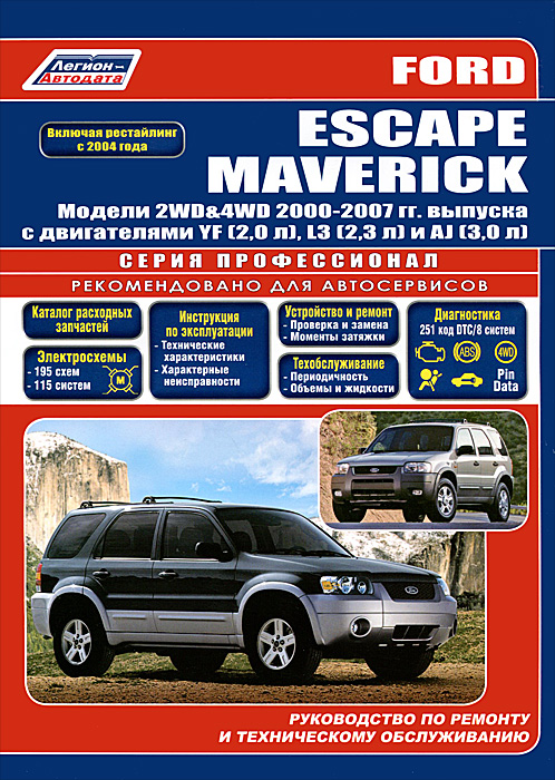 Ford Escape / Maverick. Модели 2000-2007 гг. выпуска. Руководство по эксплуатации ремонту и техническому обслуживанию